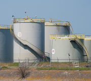 Oil tanks Royalty Free Stock Photo