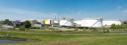 Oil tanks Royalty Free Stock Photography
