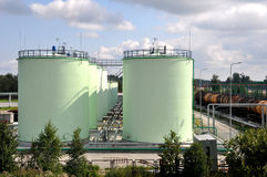 Oil tanks Royalty Free Stock Photo