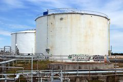 Oil tanks Royalty Free Stock Images