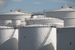 Oil tanks in Amsterdam Stock Photo