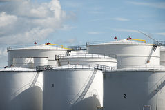 Oil tanks in Amsterdam Stock Photos