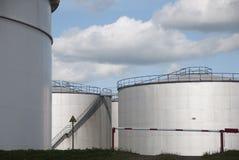Oil tanks in Amsterdam Royalty Free Stock Photo