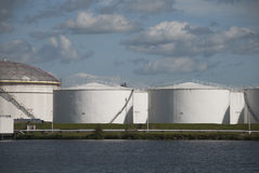 Oil tanks in Amsterdam Stock Photography