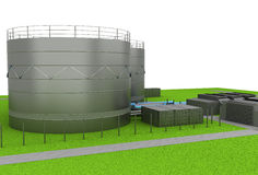 Oil tanks Royalty Free Stock Image