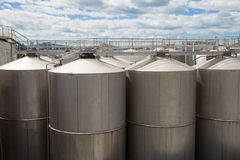 Oil tanks Stock Photos