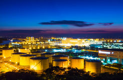 Oil tanks plant Royalty Free Stock Images