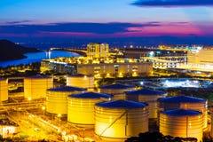 Oil tanks plant Stock Photography