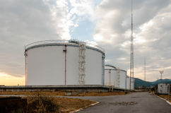 Oil tanks of Public stockholding Royalty Free Stock Photo