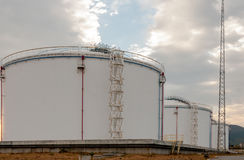 Oil tanks of Public stockholding Stock Images