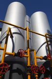 Oil tanks in a refinery Stock Photography