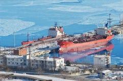 Oil terminal Royalty Free Stock Photos