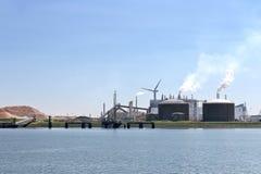 Oil terminal in the Dutch port. Stock Photo