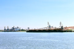 Oil terminal in the Dutch port. Stock Image