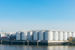 An oil terminal to store crude oil and petrol Royalty Free Stock Photography
