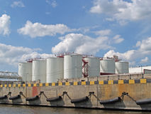 The oil terminal in trade seaport. Kaliningrad, Russia Stock Photo