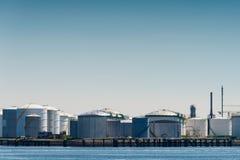 Oil terminal Stock Image