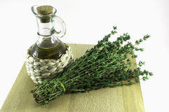 Oil and thyme Royalty Free Stock Images