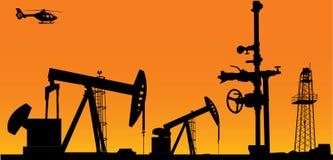 Oil time. vector illustration