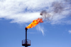 Oil torch Stock Image