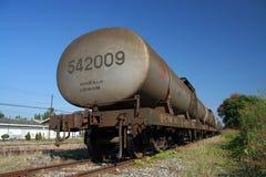 Oil train. Photo at chiangmai train station, chiangmai province Stock Photo