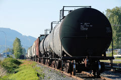 Oil Train Container Stock Image