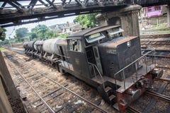 Oil train in srilanka Royalty Free Stock Photos