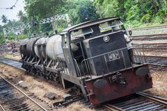 Oil train in srilanka Royalty Free Stock Images
