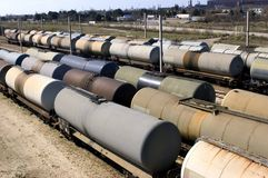 Oil trains Royalty Free Stock Image