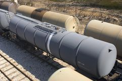 Oil trains Stock Photography