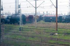 Oil trains Royalty Free Stock Photos