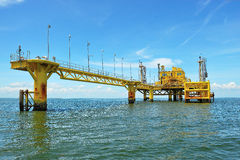 Oil transfer platforms Royalty Free Stock Photo