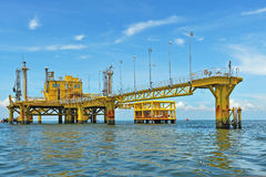 Oil transfer platforms Royalty Free Stock Photo