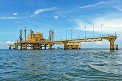 Oil transfer platforms Royalty Free Stock Photos