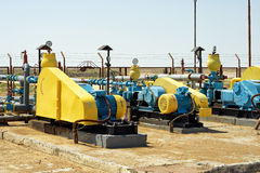 Oil transfer pumps. Stock Images