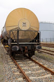 Oil transport. Oil train waggons on a oil refinery Stock Photography