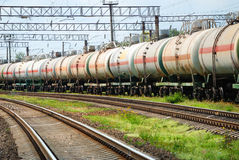 Oil transportation in tanks by rail Stock Images