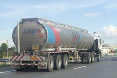 Oil truck of ama logistics company Stock Photo