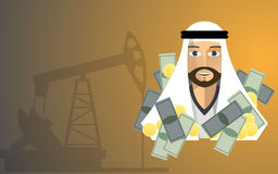 Oil Tycoon. This is an illustration of oil tycoon Royalty Free Stock Images