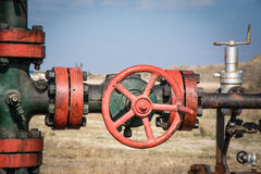 Oil valve royalty free stock photos