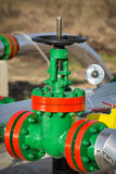 Oil Valve in the oil industry Royalty Free Stock Image