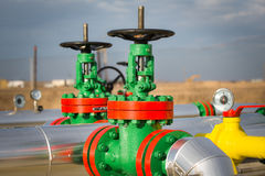 Oil Valve in the oil industry Royalty Free Stock Images