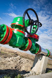 Oil Valve in the oil industry Stock Images
