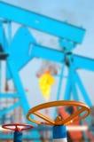 Oil Valves Stock Photo