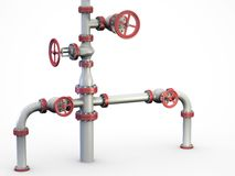Oil Valves system. Royalty Free Stock Photos