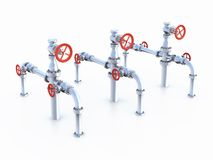 Oil Valves system. Royalty Free Stock Photography