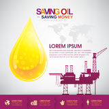 Oil Vector Concept Saving Oil Saving Money Stock Photography