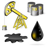 Oil vector icon set Stock Images