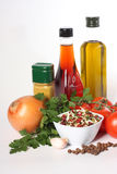 Oil, vegetables and spice Royalty Free Stock Photos