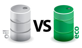 Oil versus eco concept Stock Photo